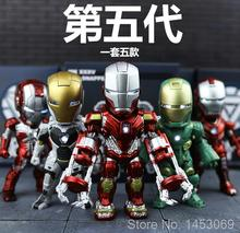 Buy Iron Man MK 5 33 35 37 39 with Light Action figure Collectible Model Toys 5pcs/lot for $32.75 in AliExpress store