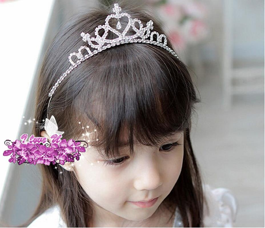 2015 New Cute Kids Girls Rhinestone Princess Hair Band Crown Headband Headwear Beautiful Nice Fashion(China (Mainland))