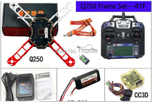 2015 New FPV mini Q250 4-Axis Quadcopter Frame Kit RTF Combo with MT2204 Motor & 5030 Prop & CC3D Flight Controller QAV250