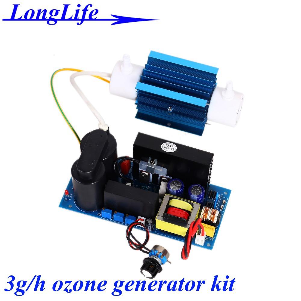 LF-1103QSOT, AC220V/AC110V 3g/h 3gram 3g-5.7g/h adjustable Quartz tube type ozone generator Kit ozonizer for air and water(China (Mainland))