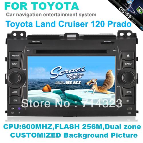 In Dash Head Deck Car PC DVD Player For 2002-2009 Toyota Land Cruiser Prado built in GPS Ipod Bluetooth rds radio audio system