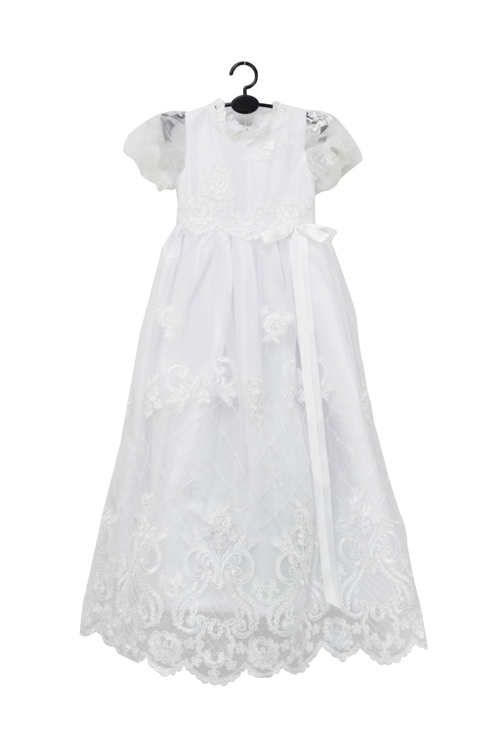 Advanced Lace White christening dresses with hats ,Elegant newborn party dresses ,baptism dresses for infant girls 1327<br><br>Aliexpress
