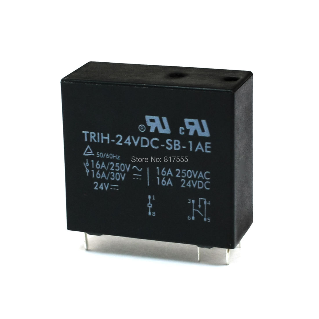 Spare Parts DC 24V Coil 6 Pin SPST Contact PCB Board Mini Power Relay Discount 70(China (Mainland))
