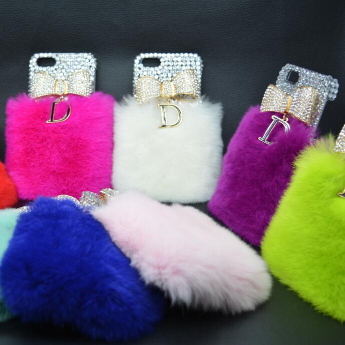 New Rabbit Fur Cover For iPhone 5 Case Hot Sale Luxury Case For iPhone 5s 100% Real Fur 15 Colors Free Shipping(China (Mainland))