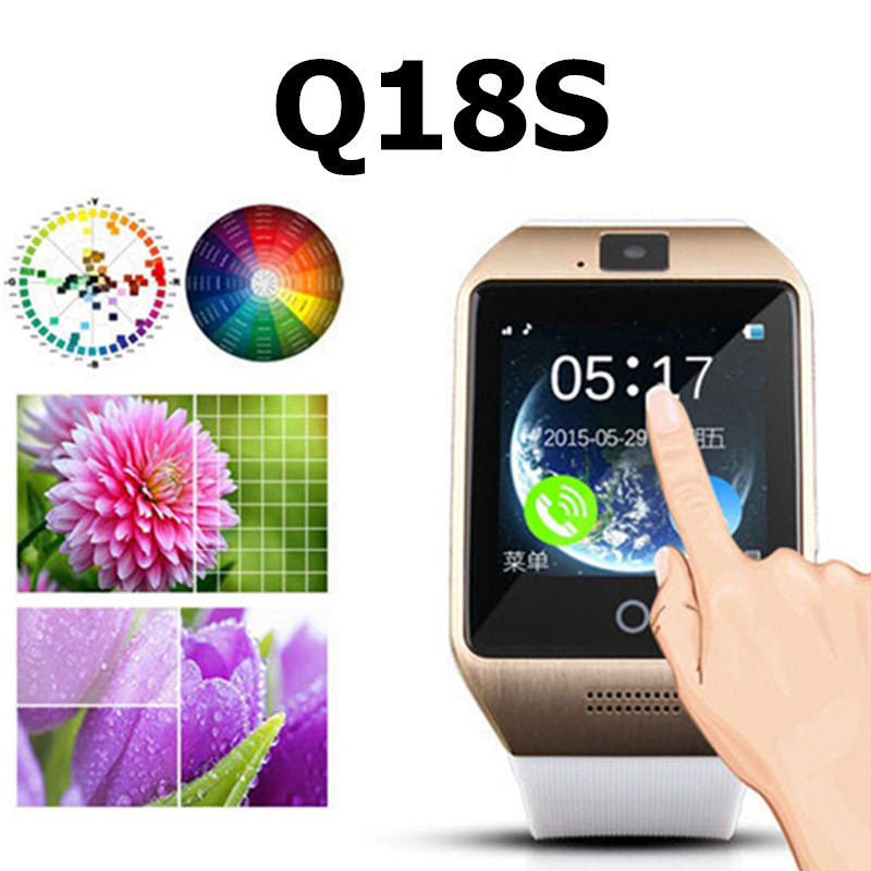 2016 NEW Smartwatch Bluetooth Smart Watch Q18s Support NFC SIM GSM Video Camera Support Android/IOS Mobile Phone Pk GT08 GV18 U8(China (Mainland))