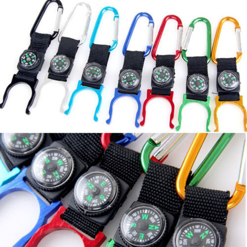 2 PCS Random Color!!! Compass Outdoors Camping Carabiner Water Bottle Clip Holder Buckle Good Use(China (Mainland))