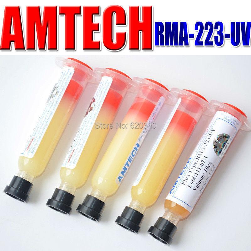 Free Shipping Quality AMTECH RMA-223-UV PCB BGA Reballing Solder Ball Repair Solder Soldering Flux Paste soldering flux 10CC(China (Mainland))