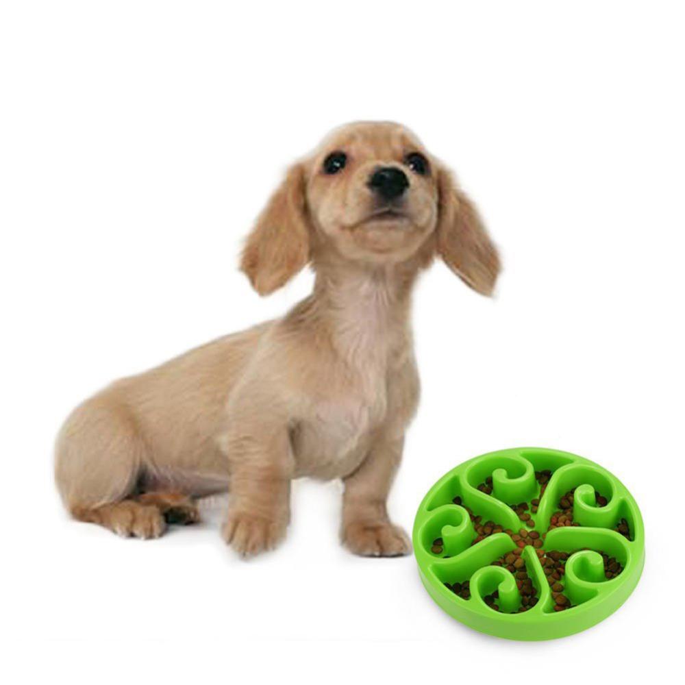 High Quality Pet Dog Feeding Plastic Bowls Fun Feeder Pet Dog Cat Food Slow Feeder Puppy Anti Choke Bowl(China (Mainland))