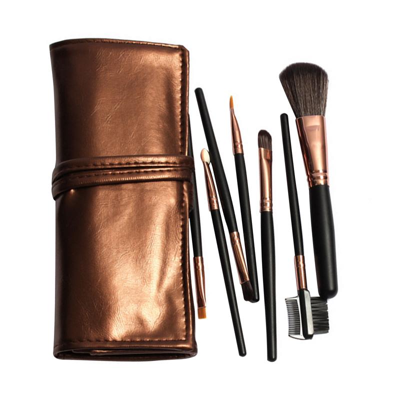 2016 Professional 7pcs Makeup Brush Set Tools Make-up Toiletry Kits Cosmetic Makeup Brushes For Face/Eye/Lip(China (Mainland))