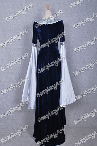 Arwen Blue Costume Costume Blue Velvet Dress
