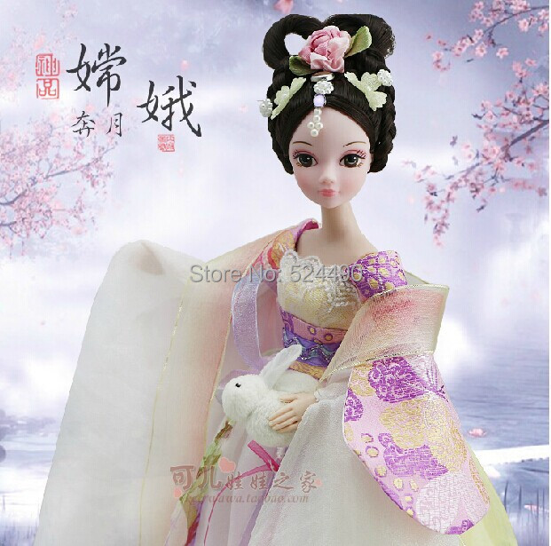 Legal Copy Genuine Original 10 jointed Kurhn Doll China Myth goddess in the moon / Legend of the Moon Faery for Barbie Doll Gift(China (Mainland))
