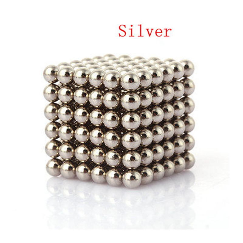 2016 3mm Silver Colored Magnetic Balls Spheres Beads Magic Cube Magnets Puzzle Block Cube Magico Birthday Present(China (Mainland))