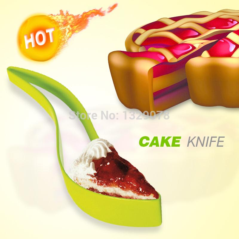 Cake Cutting Tools Slice Knife Kitchen Gadget Cake Pie Slicer Sheet Guide Cutter Server Bread(China (Mainland))
