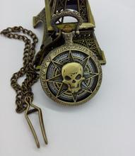 Vintage bronze Fashion quartz Cross Fire Hollow out quartz clock bronze good quality pocket watches(China (Mainland))