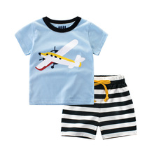 Buy Kids Boys Clothes New Summer 2017 Toddler Boys Clothing Set Fashion Children Cartoon Tops Tees+Cotton Striped Pants 2Pcs Suit for $6.98 in AliExpress store