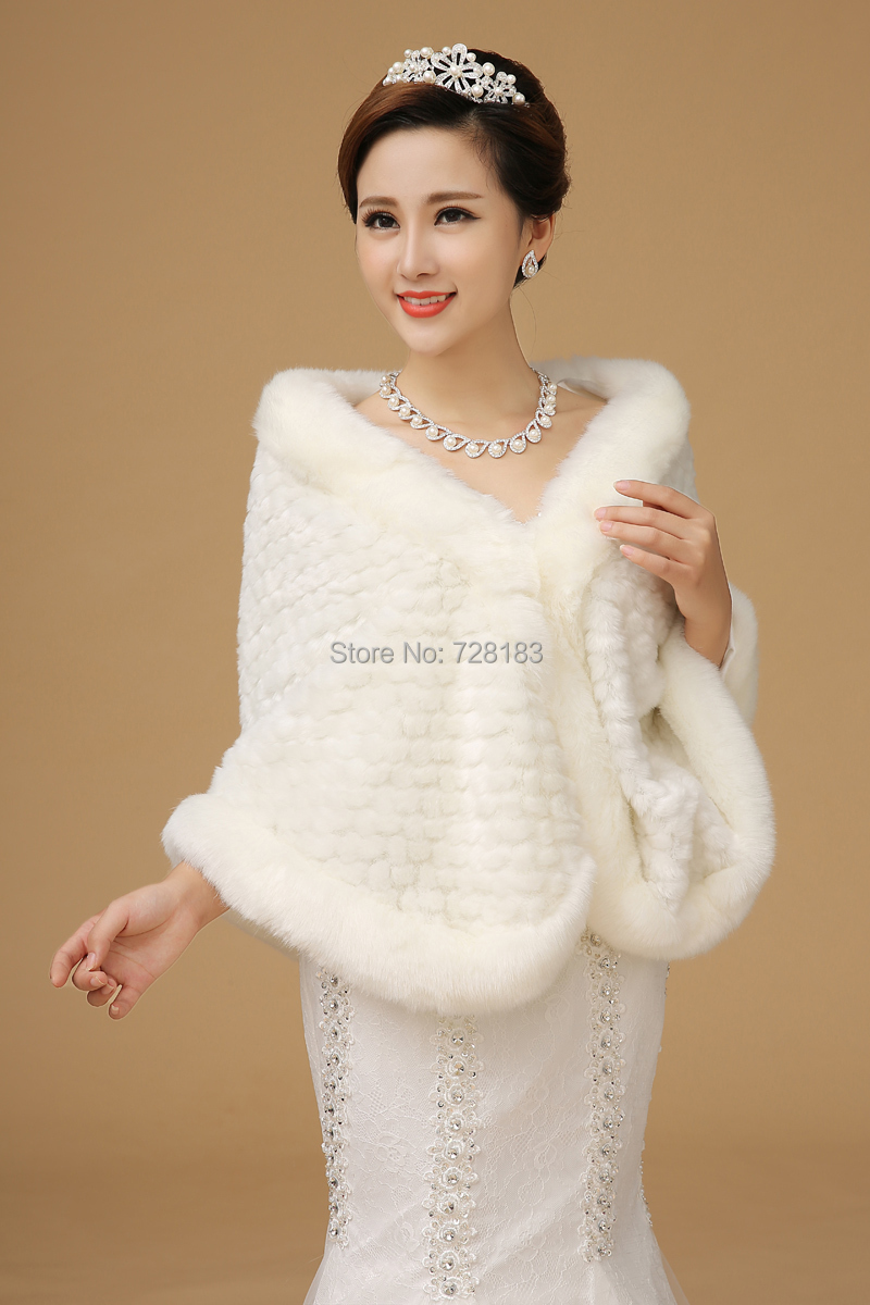 The bride wool shawls wholesale plush big white wedding for Winter shawls for wedding dresses