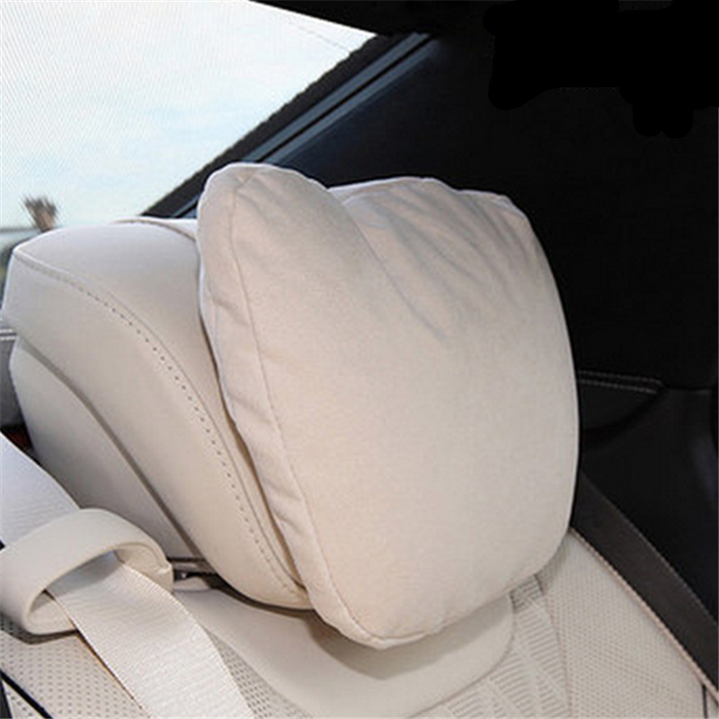 LUNDA Four Seasons Universal Car Neck Pillow - Maybach S-Class Microfiber Headrest Support Cushion for Driving -3 color(China (Mainland))