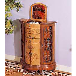 American style solid wood furniture colored drawing tieyi corner cabinet decoration cabinet display cabinet accessories