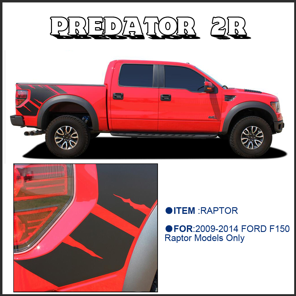body rear tail side graphic vinyl decals for Ford FORD F150 RAPTOR 2009 2010 2011 2013 2014 sticker with KK SIGN VINYLS(China (Mainland))