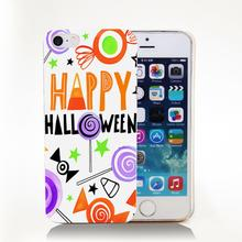 HALLOWEEN_CANDIES_CARD_01 Hard Transparent Cover Case for iPhone 4 4s 5 5s 5c 6 6s Phone Cases Protect(China (Mainland))