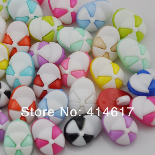 100pcs fashion mix colors cute hat sewing Baby/Kid's Sweing Backhole buttons PT68(China (Mainland))