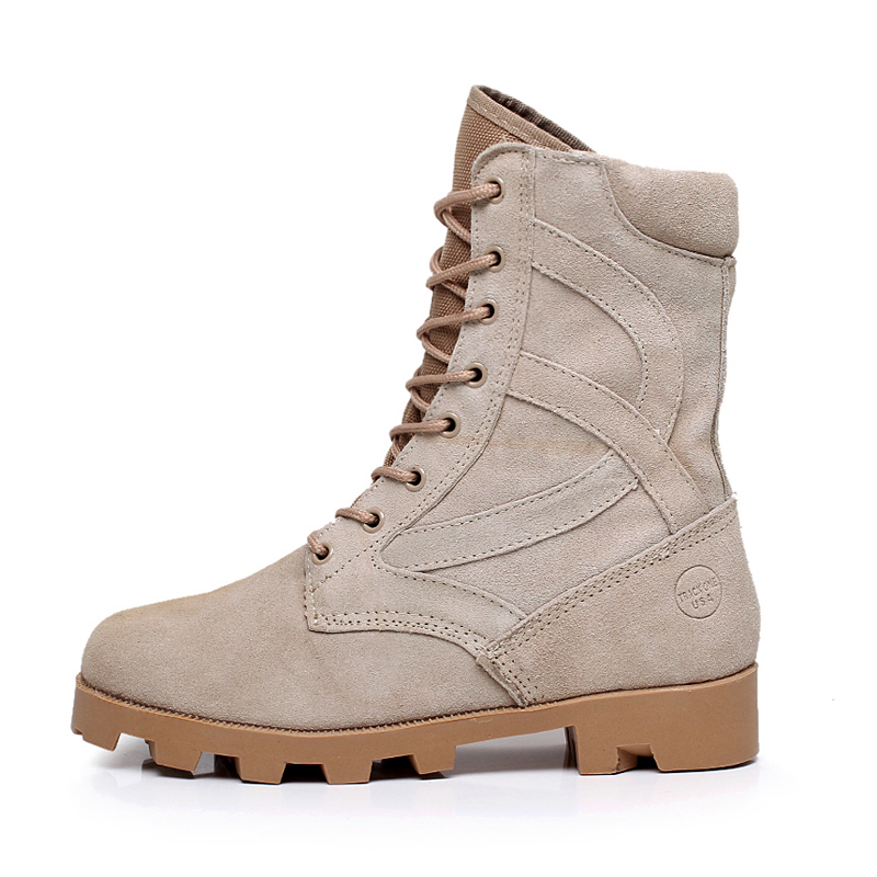 Hot Full Grain Leather Men s Jungle Boot Desert Tactical Combat Boots Outdoor Hiking Shoes Army