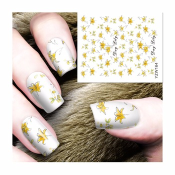 Nail Art Wrap Water Transfer Nails Sticker Leopard Series Water Decals Stickers Decoration Tools Wraps 164