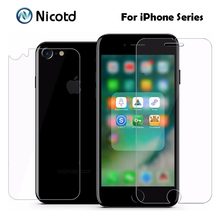 Buy 2Pcs/Lot 9H 2.5D Arc Edge Front + Back Tempered Glass iPhone 7 7 Plus Anti-scratch Explosion-Proof Screen Protector Film for $1.34 in AliExpress store