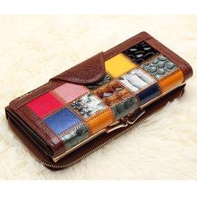 New Brand Designer 100% Genuine Leather Women's Wallet Luxury Bag Wallets Clutch Purse Phone cases portemonnee
