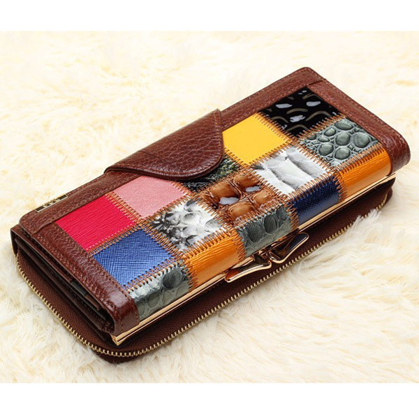 New Brand Designer 100% Genuine Leather Women's Wallet Luxury Bag Wallets Clutch Purse Phone cases portemonnee(China (Mainland))