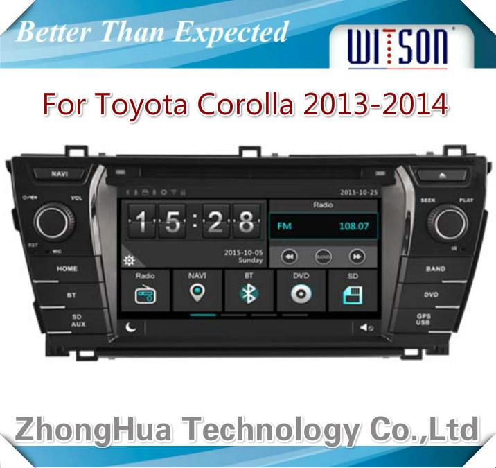Car Gps Dvd Head Unit Radio for Toyota Corolla 2013-2014 Navigation Phone mirror link HD Car Multimedia System 3G USB bluetooth(China (Mainland))