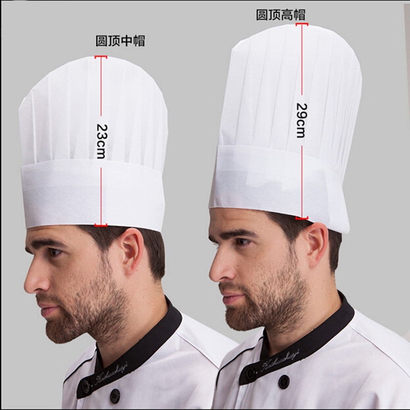 Hotel and restaurant adult kitchen hat chef non-woven fiber cloth hat work hat disposable chef hat 2016 New 100pcs(China (Mainland))