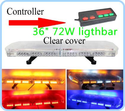 High qaulity DC12/24V,72W,90cm Led flash light bar,police ambulance fire lightbar with conroller,15 flash,waterproof IP56(China (Mainland))