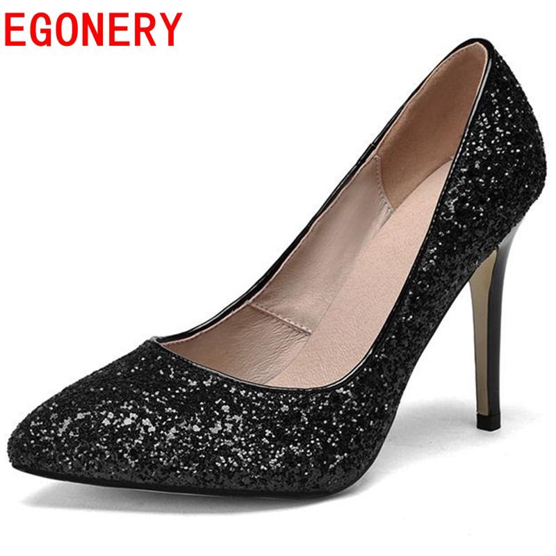 new fashion concise genuine leather High Heels Women Wedding Shoes Thin Heels Rhinestone Platform high Cinderella Crystal pumps<br>
