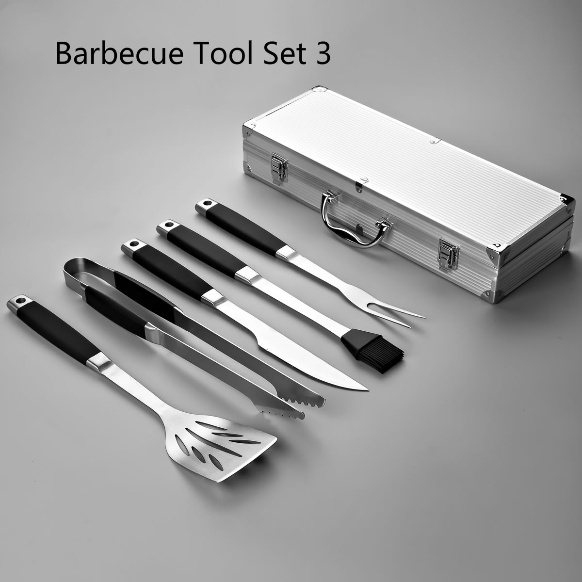 Outdoor Barbecue Tool Set Stainless Steel Barbecue Tool Five Sets Kitchen Accessories Barbecue Accessories