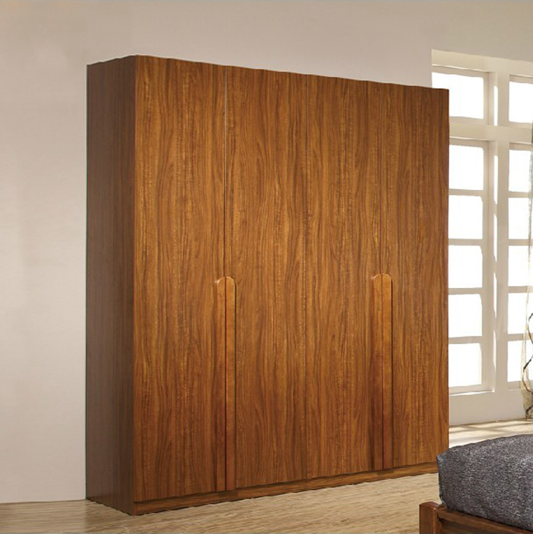 Wood Simple Four Bedroom Sliding Door Wardrobe Chinese Wardrobe Closet