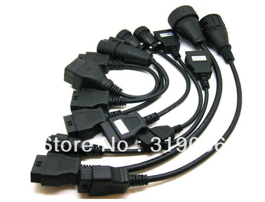 High quality 8 Adapter OBD 2 Cables For Autocom CDP Pro Trucks Knorr 7