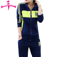 Buy High European 2017 Spring Cotton Tracksuit Suit Women Print 2 Piece Suits Long Sleeve Hoodies Moletom Feminino for $26.68 in AliExpress store