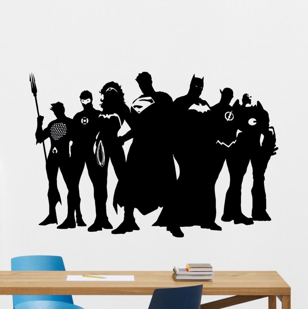 Superhero Wall Decal Marvel Dc Comics Vinyl Sticker