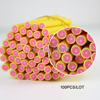 100 pcs 3D Nail Art Fimo Canes Stick Rods Polymer Clay Stickers Tips Decor