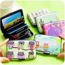 New Arrival Owl Design Multiple Card Slots Credit Card Holder For Women Men Fashion ID Business Card Holder WWA4008-3(China (Mainland))