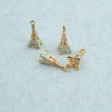 Buy 10 pcs enamel charms golden Eiffel Tower metal pendants fit Necklace Bracelet charms Jewelry Making 24*10 mm 1578 for $2.38 in AliExpress store