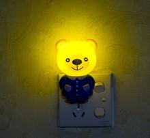 Ес сша штекер из светодиодов ночник в тигр / медведь мультяшном стиле огни из светодиодов лампы спать ночью лампы новый свет 1 шт.