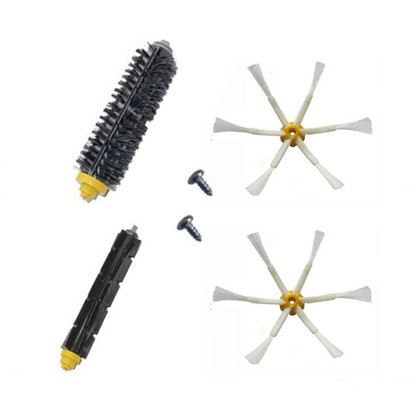 For iRobot Roomba 600 700 Series 620 630 650 660 760 770 780 790 Bristle Flexible Beater Brush Side Brush Vacuum Cleaner Parts(China (Mainland))