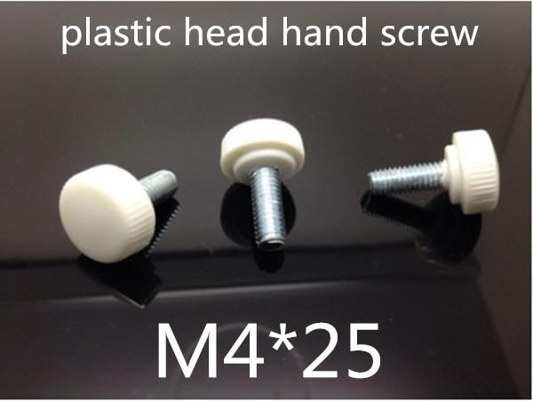 Гаджет  50pcs/lot  M4*25 plastic head knurled hand tighten screw,Nylon Thumb Screw / Plastic Hand Twist Screw None Аппаратные средства