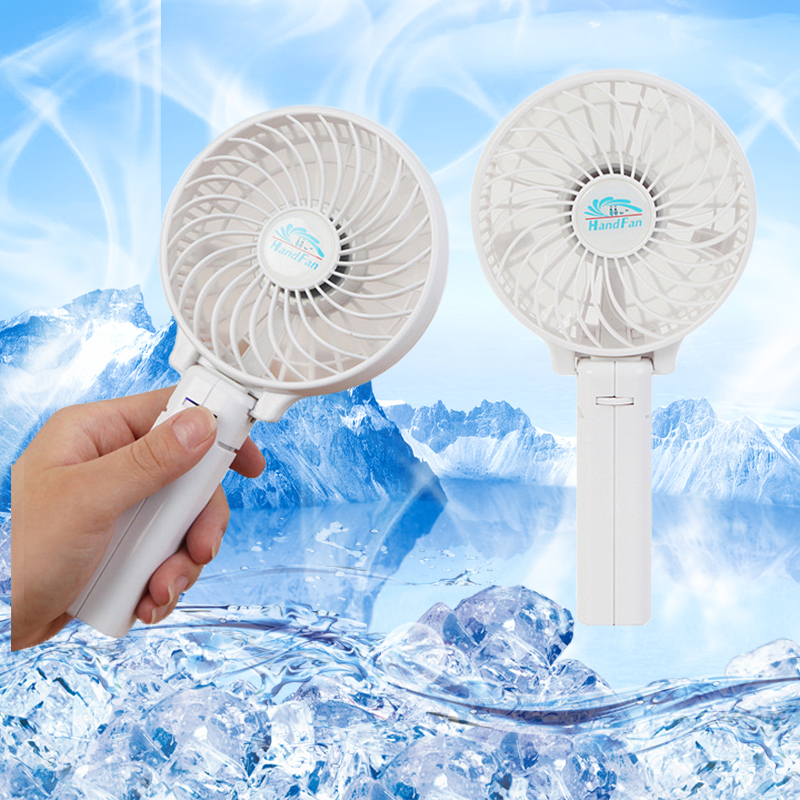 USB Mini Portable Fan Rechargeable Handheld Mini Fan Outdoor Camping office Cooler + 18650 Li-ion Polymer Battery(China (Mainland))