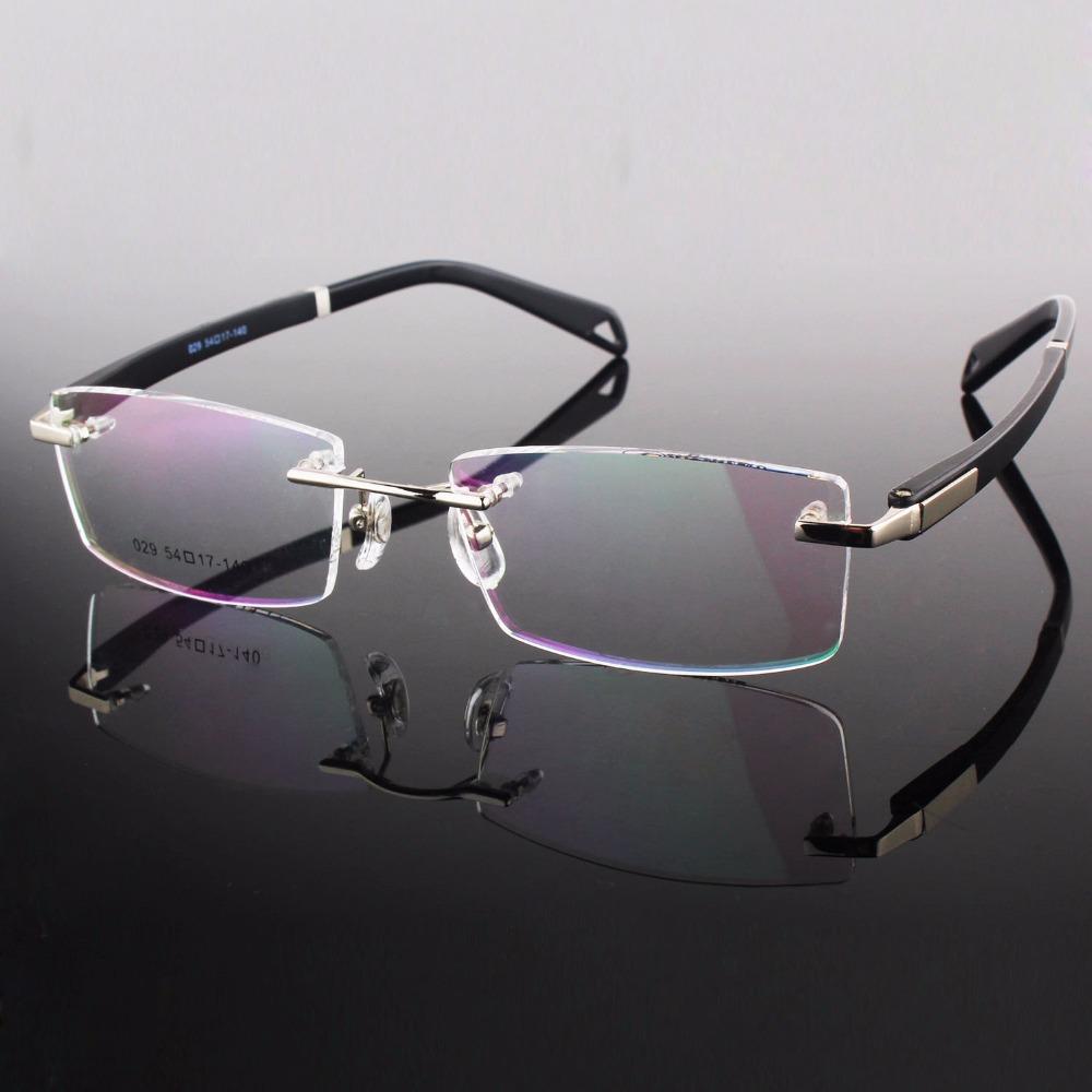 Rimless Glasses Frame Designer Rim Spectacles Men Myopia ...