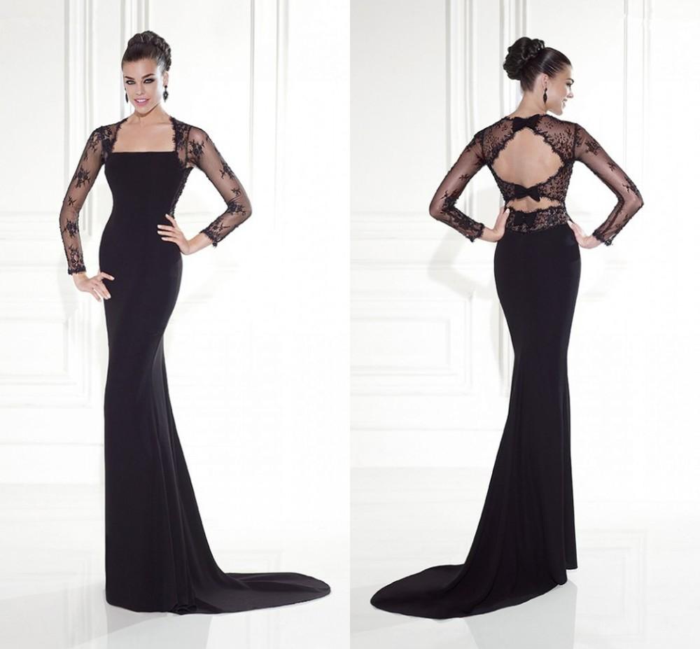 mk03106 2015 spring black satin lace long sleeves sexy