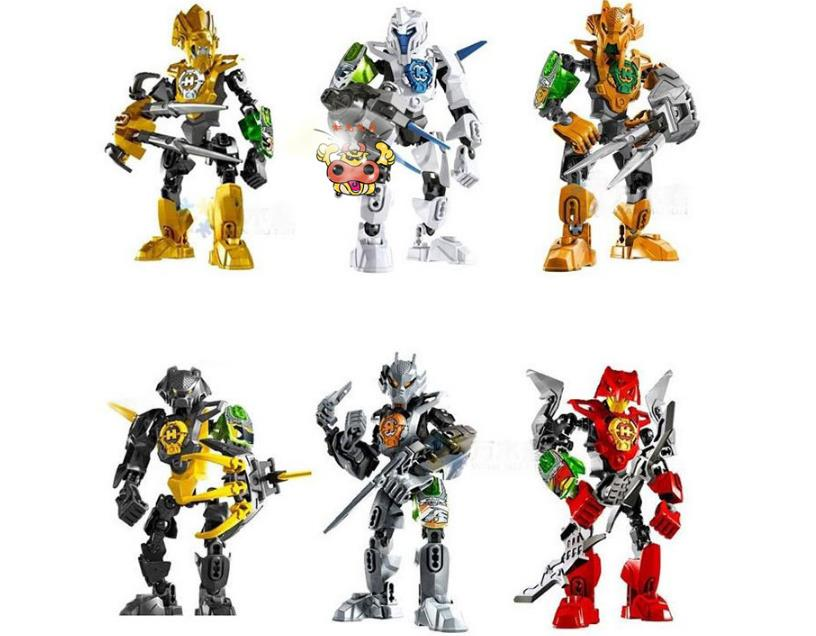Decool 6Pcs/Lot Hero Factory 3.0 Solider Robots Nex/Frno/Aulk/Stringer/Rocka/Stormer Figures Building Blocks Toys For Children(China (Mainland))