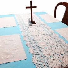 Handmade crochet Luxury Tea/coffee table runner tablecloths Crochet  Scarf Shawl Cape TV cabinet cover cloth[Can custom] 90% off(China (Mainland))